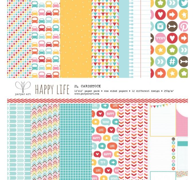 """Happy life 12""""x12"""""""
