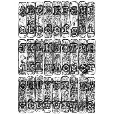 Letters Embossing Folder