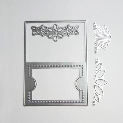Floral frame for gift card