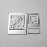 Photo message frame Metal Cutting Dies