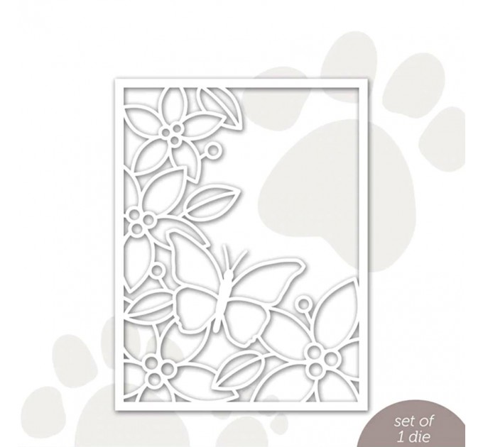 Butterfly frame card