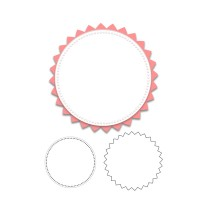 Circle with zigzag scallop Metal die cuts