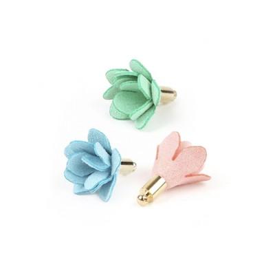 Suede Flower Tassel Charm