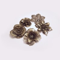Mixed Antique Bronze Flowers