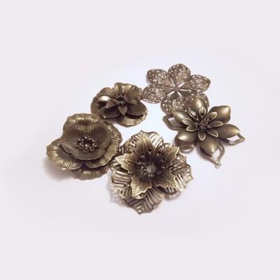 Mixed Antique Bronze Flowers