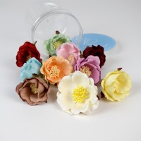 Mulberry Paper Flowers - color wild rose
