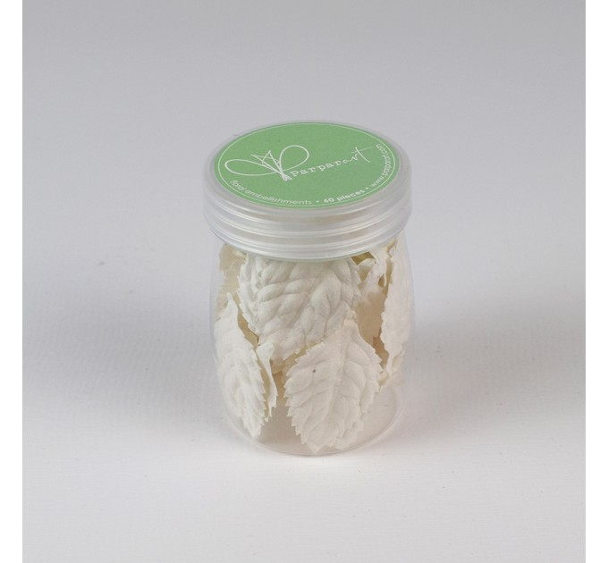 Mulberry paper leaves - white color