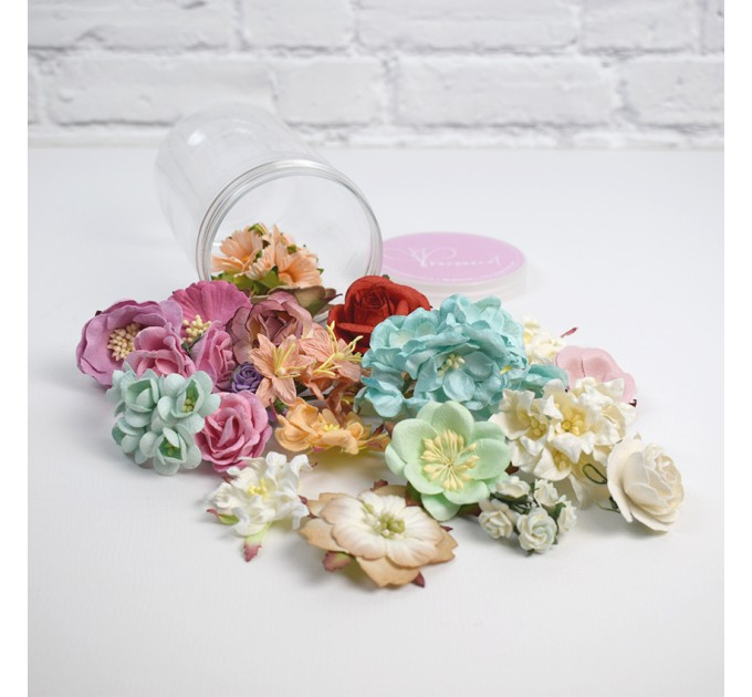 Mulberry Paper Flowers - color Mix