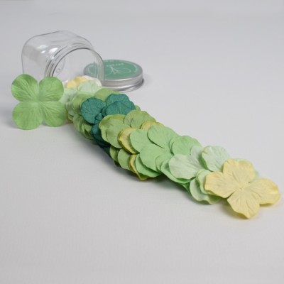 Hydrangeas Mulberry Paper Flowers - Green Mix