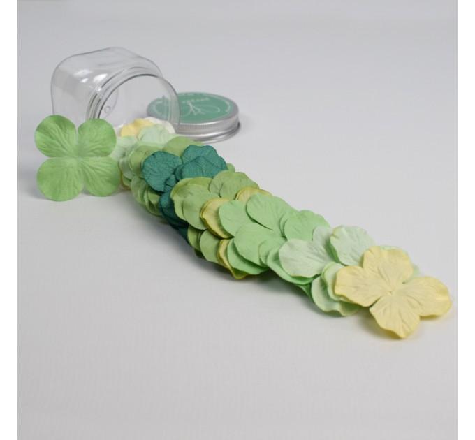 Hydrangeas Mulberry Paper Flowers - Green Mix