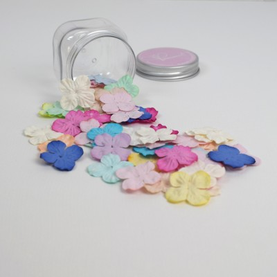 Small Hydrangeas Mulberry Paper Flowers