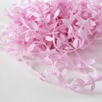 Leaf Shaped Ribbon - pink