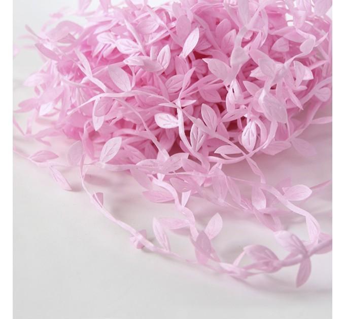 Leaf Shaped Ribbon - pink