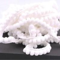 Pom Pom Lace - white