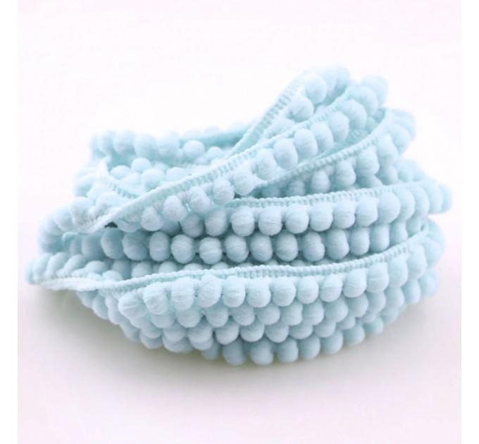 Pom Pom Lace - light blue