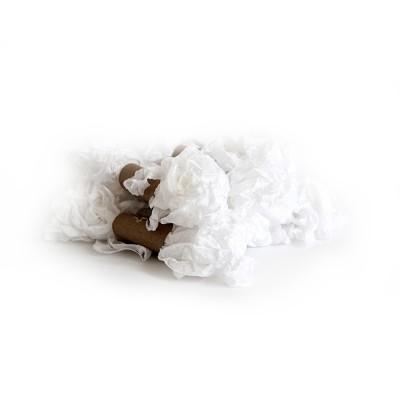 Shabby Crinkled Ribbon - white