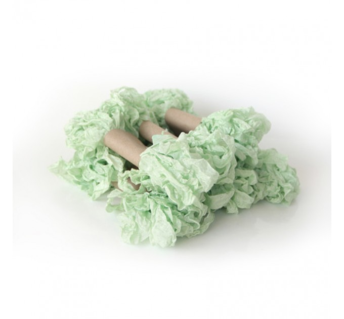 Shabby Crinkled Ribbon - Light Green