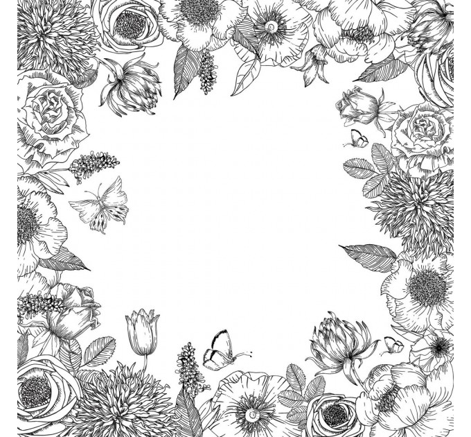 "Coloring Page Paper Pad 12""X12"""