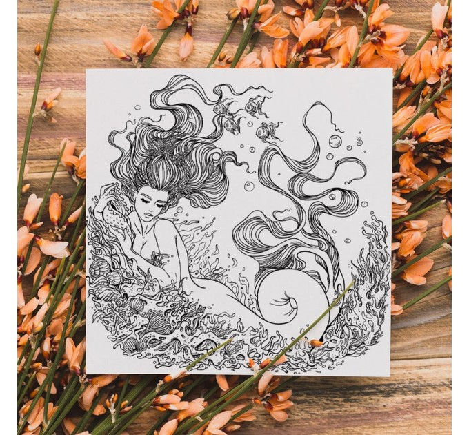 """Coloring Page 2 Paper Pad 12""""X12"""""""