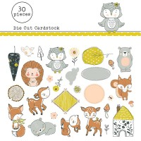 Die cuts Fawns Playing
