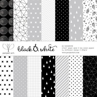 """Black & White 12""""x12"""""""