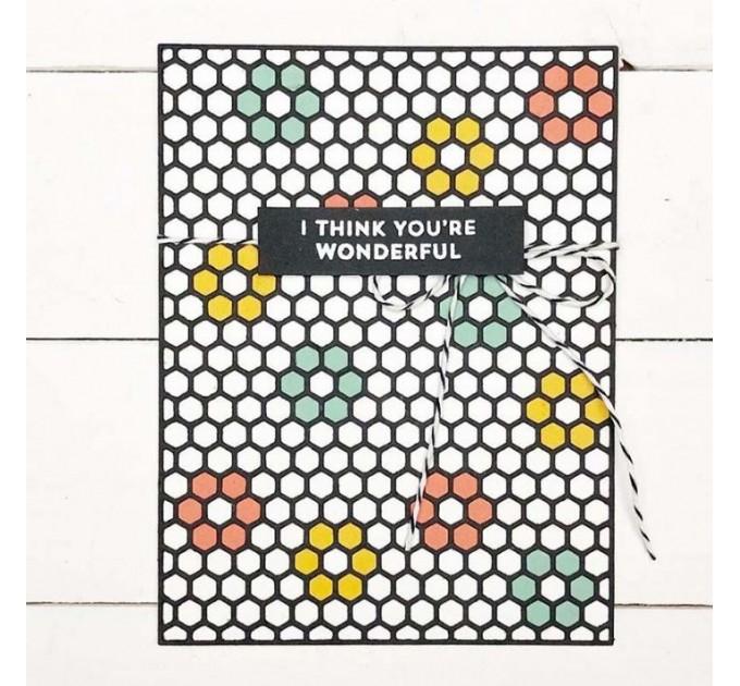 Hexagon Card Die Cut