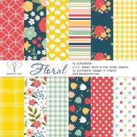 Floral paper pad