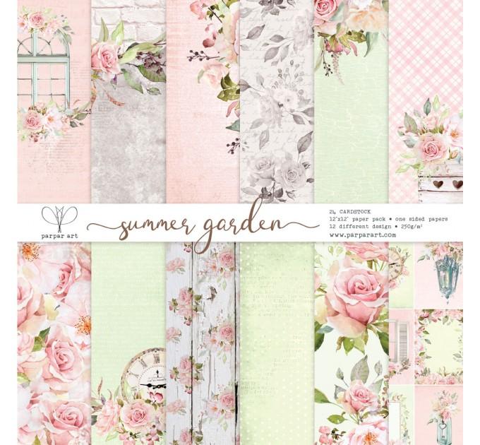 "Summer Garden 12""x12"""