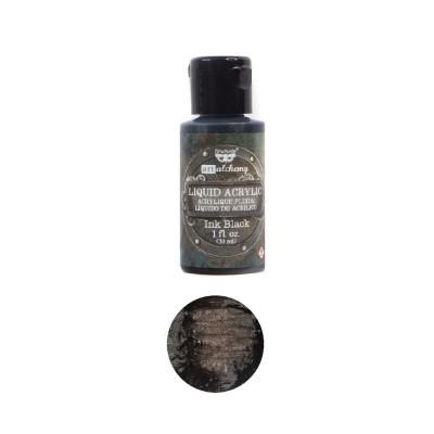 ART ALCHEMY-LIQUID ACRYLIC INK BLACK 1FL.OZ (30ML)