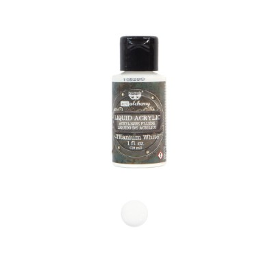ART ALCHEMY-LIQUID ACRYLIC TITANIUM WHITE 1FL.OZ (30ML)