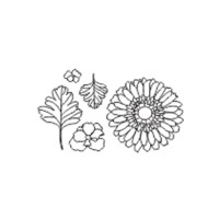 Flowers polymer stamp set