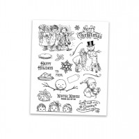 Vintage Christmas clear stamp set