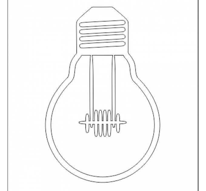 Shaker Light Bulb 9.5 cm