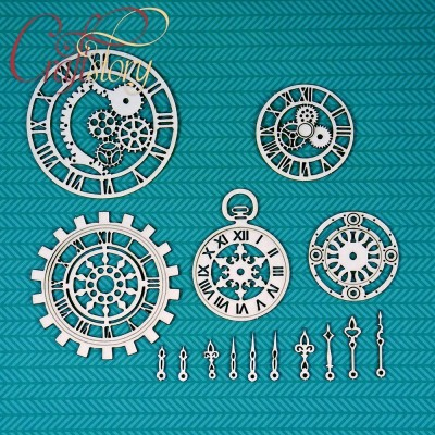 Chipboard Clock 2