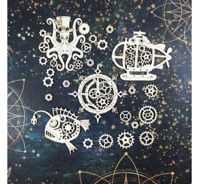 Chipboard Nautical Steampunk