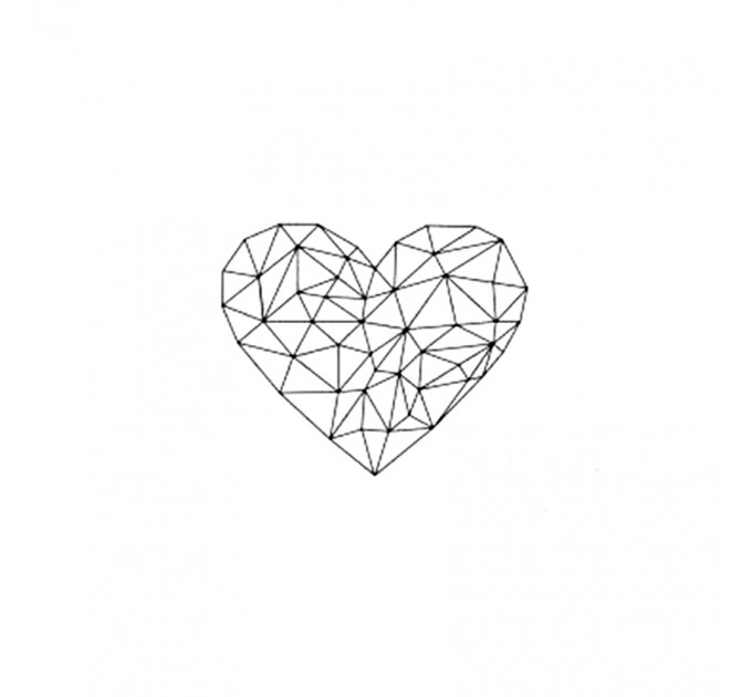 Heart polymer stamp