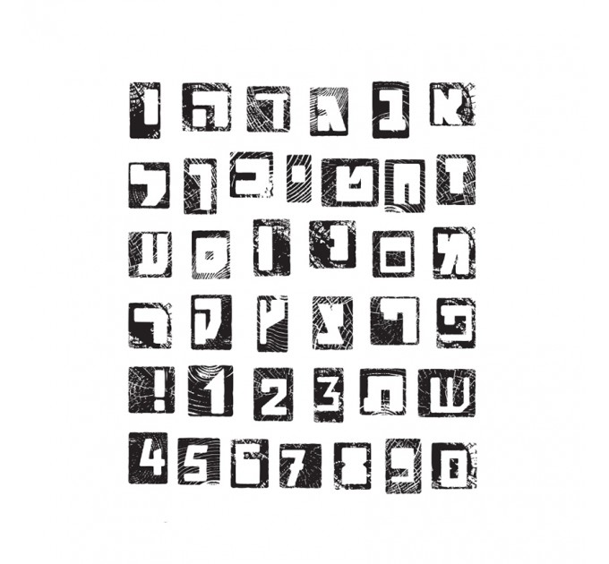 Alphabet Polymer Clear Stamps