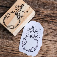 Little prince wood stamp