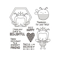 Bee Happy Silicon Stamps