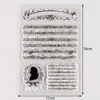 Music note Silicon stamp *1